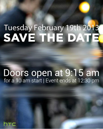HTC se adelanta al MWC 2013 y nos convoca a una presentacin el 19 febrero