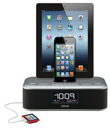 iHome anuncia altavoces y radios con conector Lightning para el CES 2013