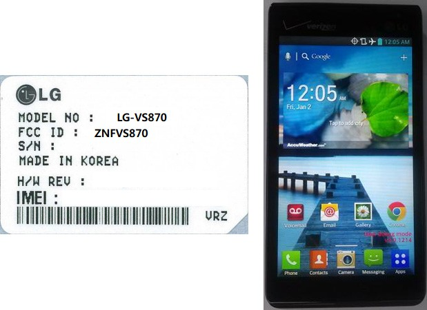 LG VS870, un 'low cost' completito que asoma por FCC