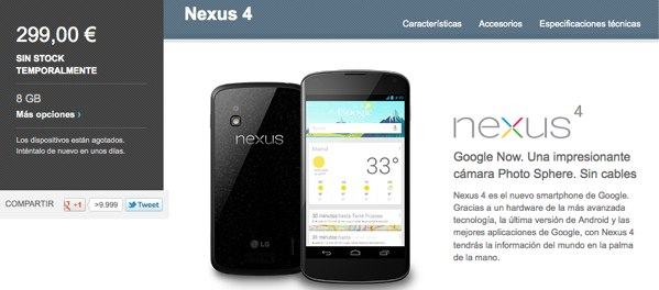 Nexus 4 regresa de improviso a Google Play Alemania mientras el resto de Europa mira impaciente el calendario