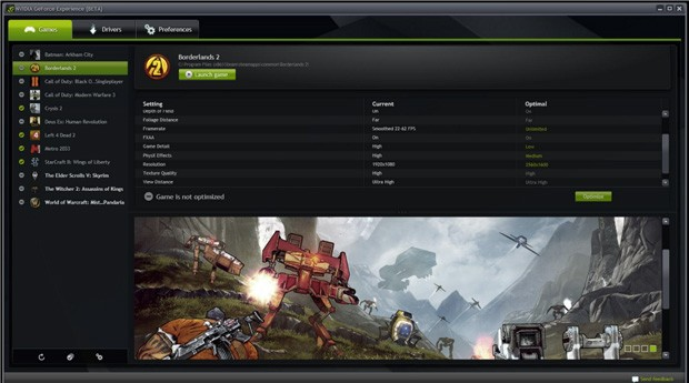 NVIDIA GeForce Experience ya est disponible a modo de beta pblica