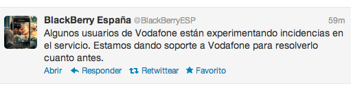 BlackBerry sufre un 'apagn' en Europa (afecta a los usuarios de Vodafone en Espaa)