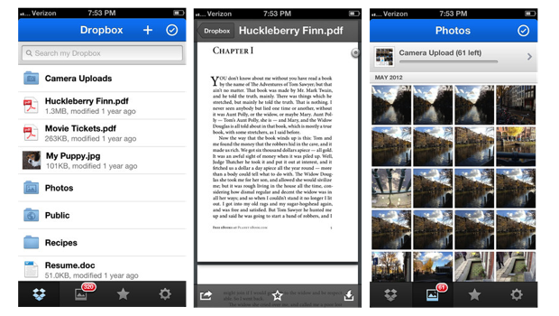 Dropbox actualiza su app para iOS con notificaciones push y un nuevo visor PDF
