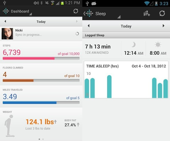 Fitbit actualiza su aplicacin para Android con sincronizacin Bluetooth 4.0 y soporte NFC