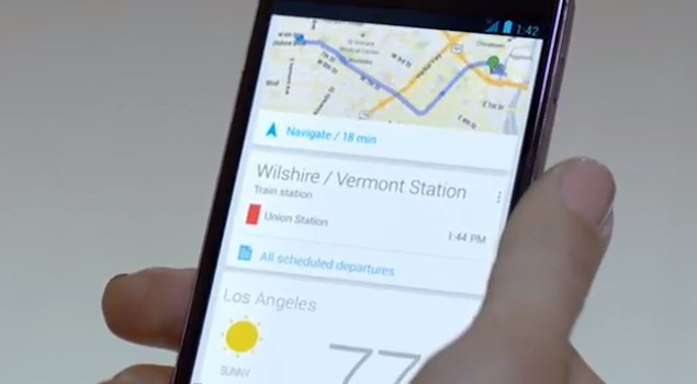 Nexus 4 se exhibe con Google Now en un sugerente anuncio (vídeo)