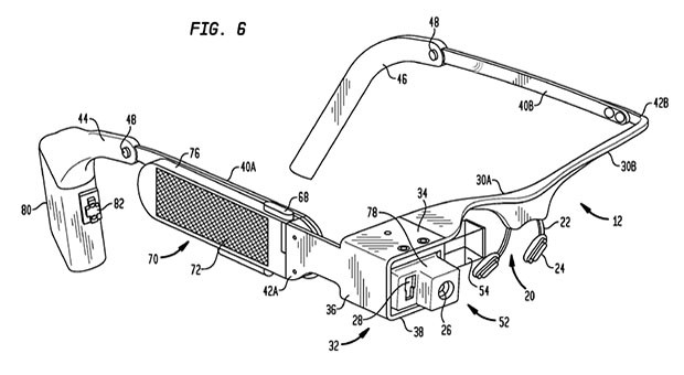 Una peticin de patente deja ver el interior de Google Glass