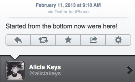 Alicia Keys (fichaje de BlackBerry) tuitea desde un iPhone y culpa a un hacker