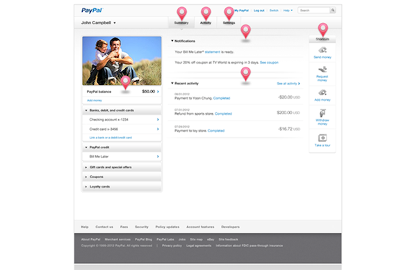 Paypal redisea su sitio de pies a cabeza