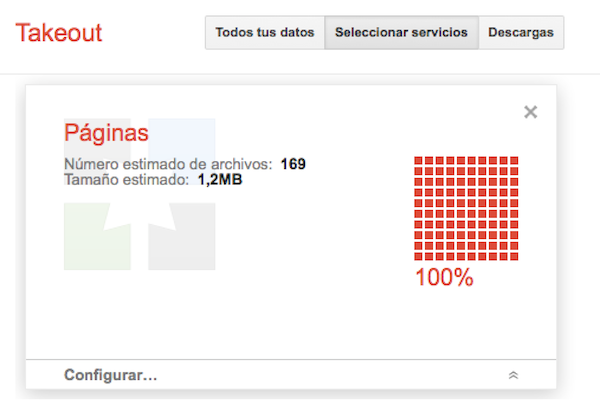 Google Takeout ahora permite descargar el contenido de Blogger y Pginas de Google+