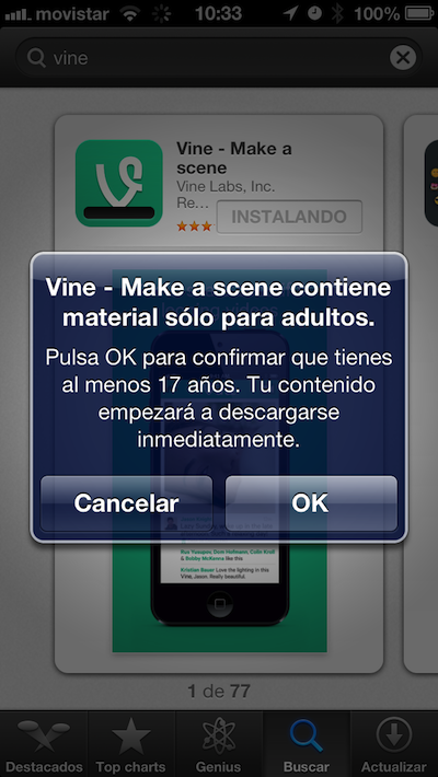 Vine eleva la edad legal de uso a los 17 aos tras la polmica con el porno