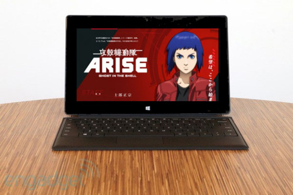 Surface RT aterriza en Japón... y se cuela en Ghost in the Shell gracias al product placement