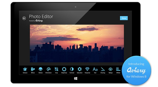 Aviary lanza su SDK de edición de fotos para Windows 8