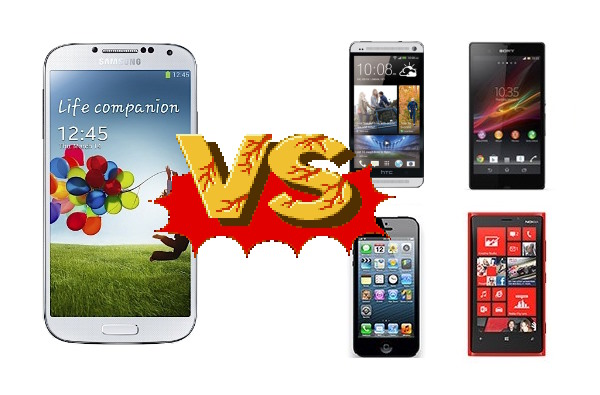 Samsung Galaxy S 4 se enfrenta a los HTC One, iPhone 5, Lumia 920 y Xperia Z