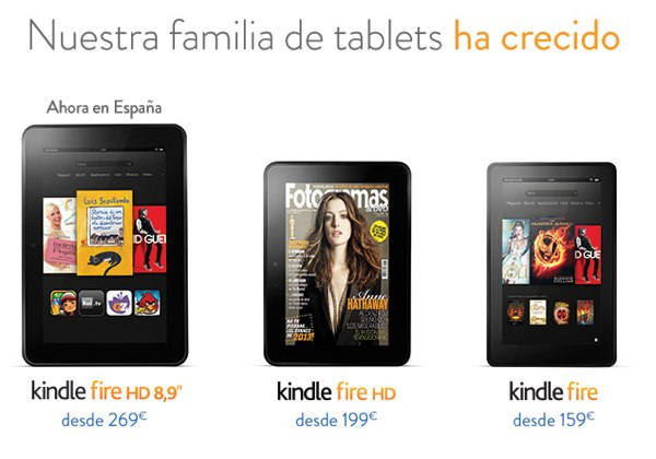 Kindle Fire HD 8.9 anuncia por fin su llegada a Espaa