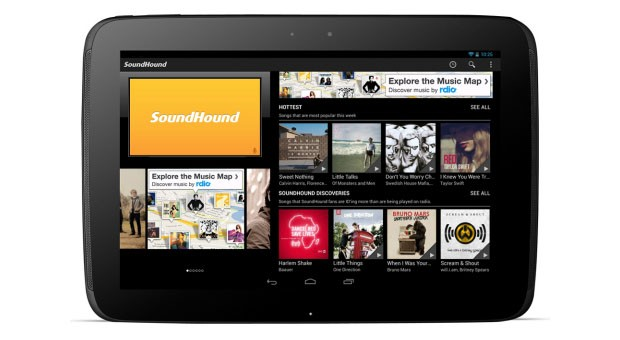 SoundHound se actualiza para adaptarse a las necesidades de los tablets con Android