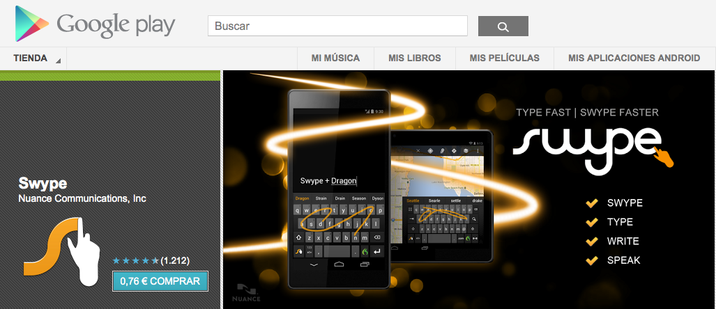 Swype 1.5 deja atrs la etiqueta de beta y aterriza por fin en la Play Store