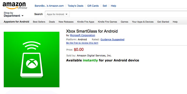Xbox SmartGlass ya disponible para los Kindle Fire y Fire HD