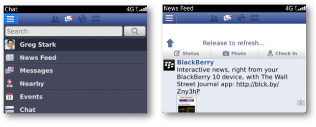 Facebook se actualiza para las antiguas BlackBerry 5.0 y posteriores