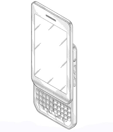 BlackBerry recibe la patente de un móvil con teclado QWERTY deslizable en vertical