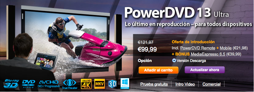PowerDVD 13 llega con nueva interfaz, soporte 4K y versiones para iOS y Android