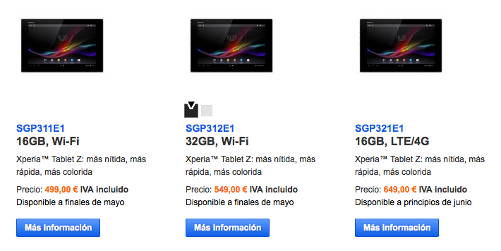 Ya puedes reservar tu Sony Xperia Tablet Z a partir de 499 euros