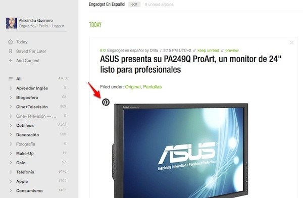 feedly actualizacion