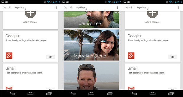 MyGlass, la app Android que gestiona Google Glass, ya disponible