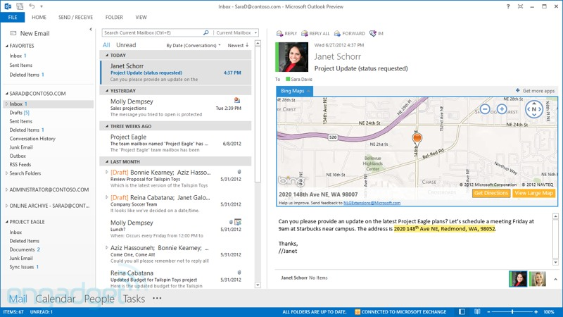 Outlook para Windows RT estaría virtualmente finalizado (y tendría un papel clave en el 'retraso' de Office para el iPad)