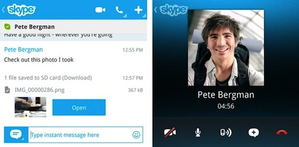 Skype para BlackBerry 10 disponible en la BlackBerry World, pero sólo funciona en los Q10