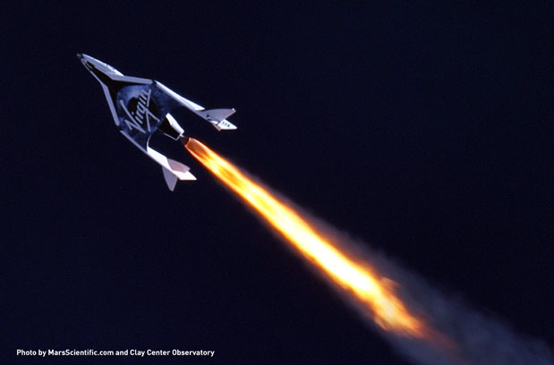 El avin espacial de Virgin Galactic completa con xito su primer vuelo