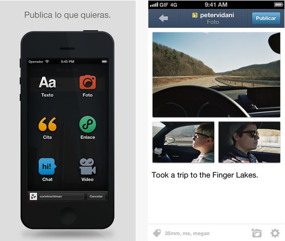 Tumblr para iOS se actualiza con nuevas funciones sociales y soporte para Instapaper y Pocket
