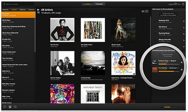 Amazon lanza aplicación del Cloud Player para PC y promete que pronto saldrá para Mac