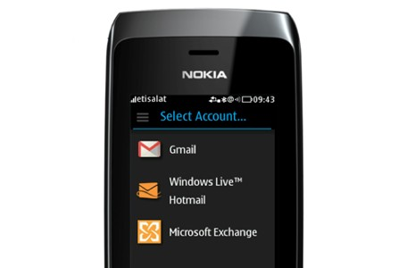 nokia asha mail for exchange