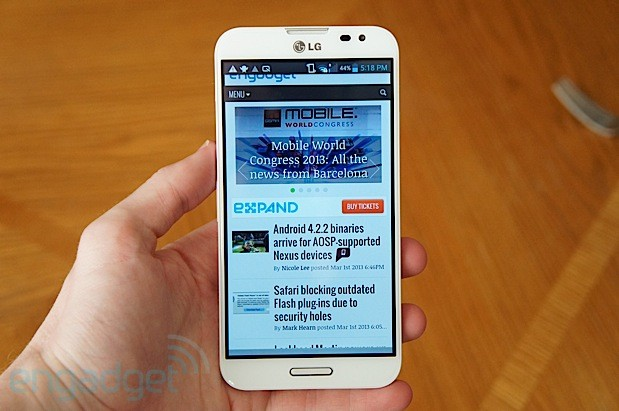 Un desconocido LG Optimus con Snapdragon 800 aparece en la web de Sprint 