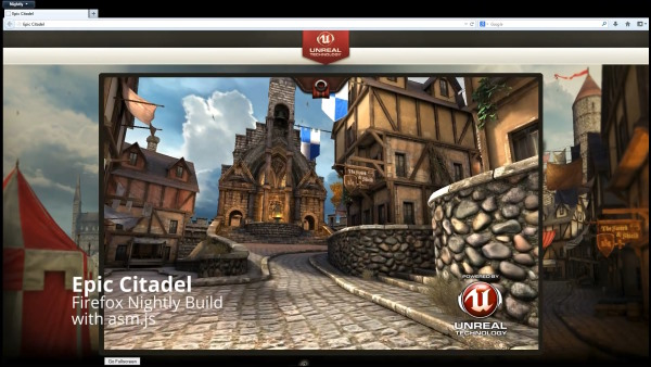 Mozilla presume un poco con la versin web de Epic Citadel para Firefox