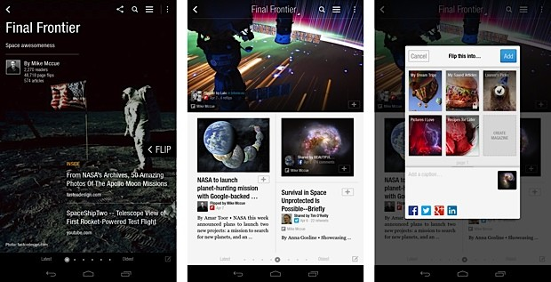 Flipboard para Android se actualiza para incluir las famosas revistas y nuevas herramientas