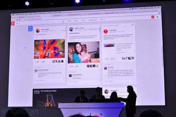El nuevo Streams de Google+ muestra informacin en varias columnas