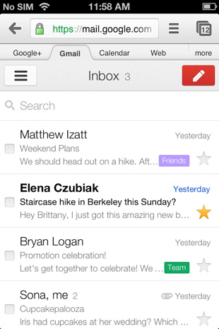 Actualización de Gmail para iOS enlaza directamente a Chrome, Google Maps y YouTube