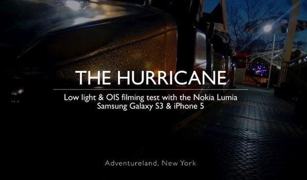 Lumia 928 se enfrenta iPhone 5 y Galaxy S III en una grabacin de vdeo con baja luz