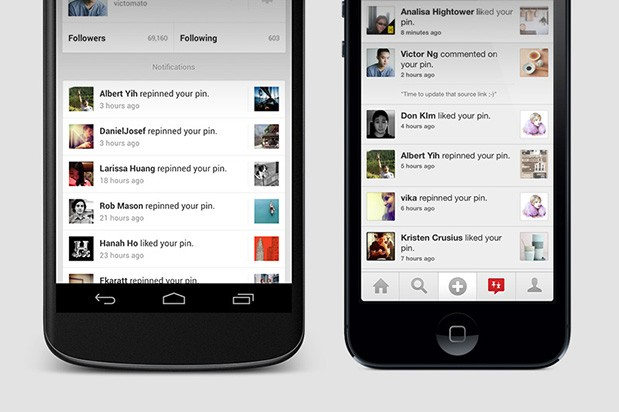 pinterest actualizacion ios android