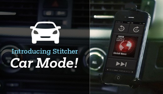 Stitcher Radio incorpora un 'modo conducción' a su app iOS para evitar accidentes