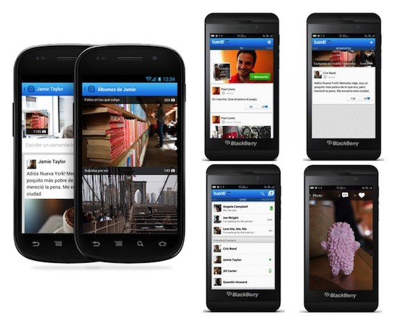 tuenti social messenger android blackberry 10