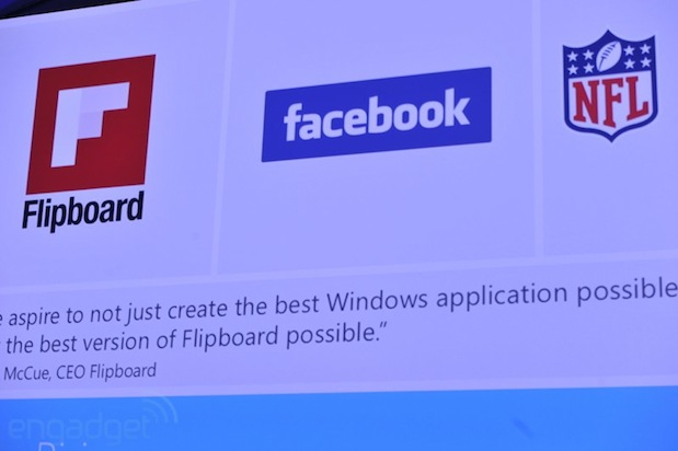 Facebook y Flipboard tendrán aplicaciones para Windows 8