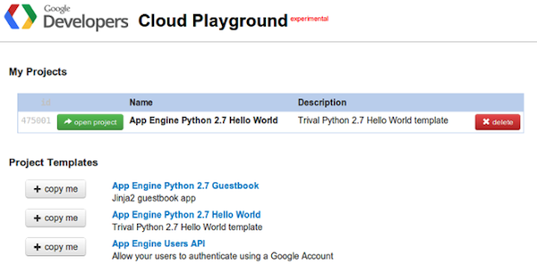 Google Cloud Playground te permite probar la Cloud Platform