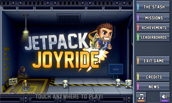 Jetpack Joyride llega finalmente a Windows Phone