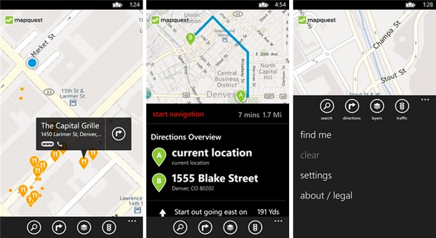 MapQuest aparca por fin en Windows Phone 8