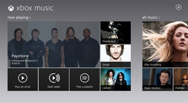 Xbox Music para Windows 8 se actualiza con búsquedas y streaming gratuito de 15 canciones