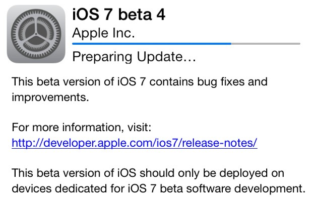 iOS 7 Beta 4 ya disponible para los desarrolladores