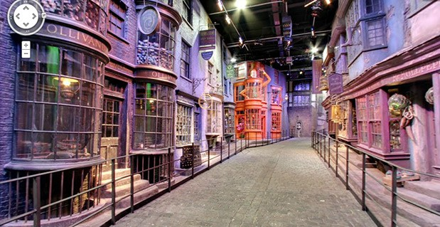 Date un paseo por Diagon Alley de Harry Potter con Street View
