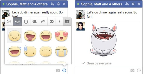 Las stickers de Facebook llegan a la web